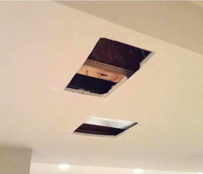 Flood Destroys Basement Ceiling Before