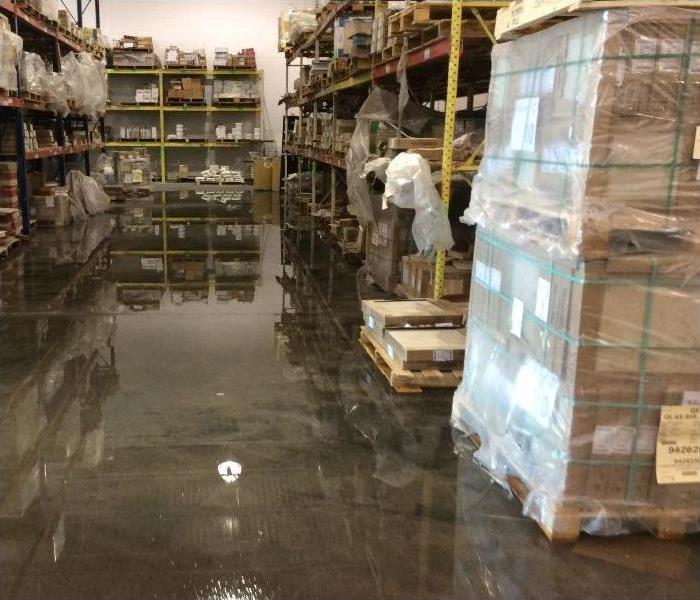 Flood in Commercial Warehouse